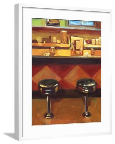 Bar Stools-Pam Ingalls-Framed Art Print