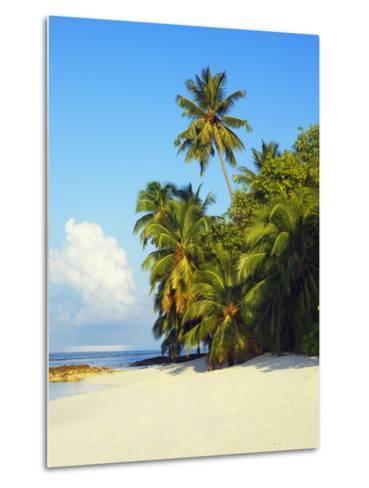 Beach at Soneva Fushi Resort in the Baa Atoll-Frank Krahmer-Metal Print