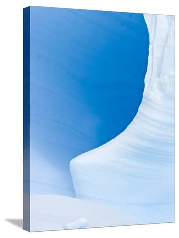 Blue Cave in Iceberg Sculpted by Waves-John Eastcott & Yva Momatiuk-Stretched Canvas Print