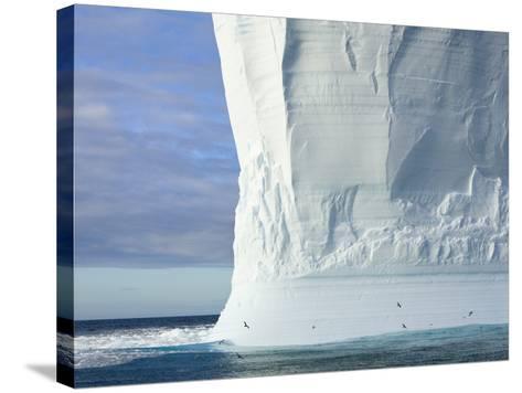 Massive Tabular Iceberg  Sculpted by Waves-John Eastcott & Yva Momatiuk-Stretched Canvas Print
