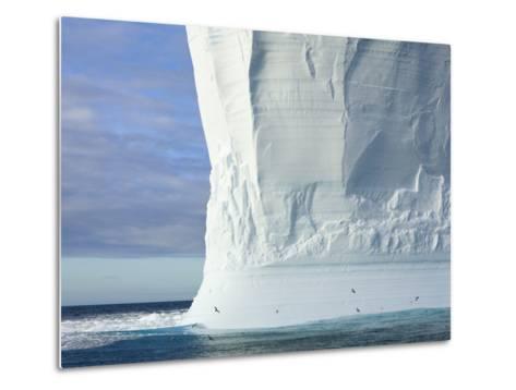 Massive Tabular Iceberg  Sculpted by Waves-John Eastcott & Yva Momatiuk-Metal Print