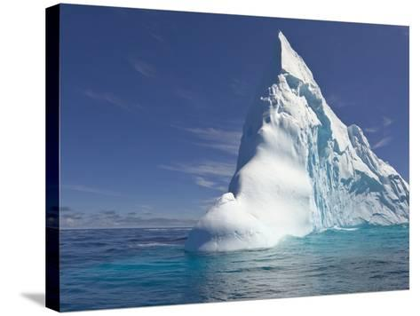 Pointy Blue Iceberg Sculpted by Waves-John Eastcott & Yva Momatiuk-Stretched Canvas Print