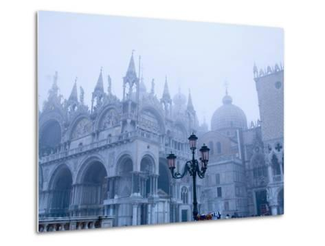 Fog Over the Basilica of San Marco in Venice--Metal Print