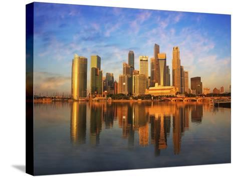 Singapore Skyline at Sunset-Paul Hardy-Stretched Canvas Print