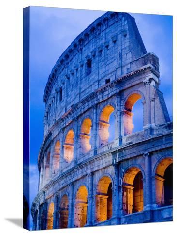 Colosseum at Dusk-Bob Krist-Stretched Canvas Print