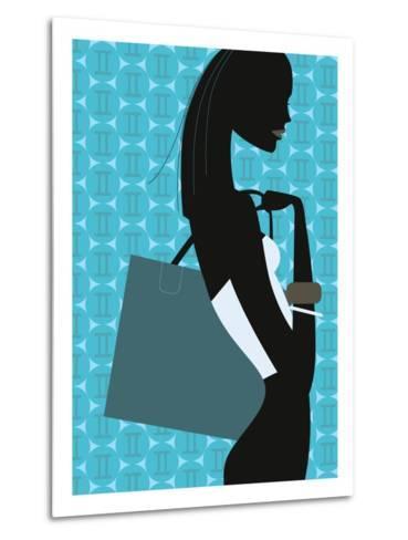 Stylish Woman--Metal Print