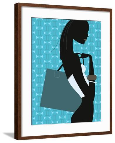 Stylish Woman--Framed Art Print