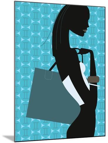 Stylish Woman--Mounted Giclee Print