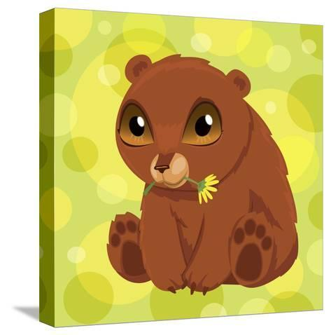 Anime Bear Cub-Harry Briggs-Stretched Canvas Print