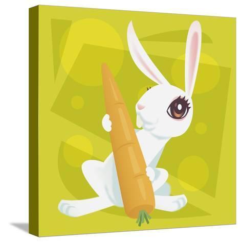 Anime Rabbit-Harry Briggs-Stretched Canvas Print