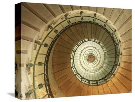 Spiral Staircase at Eckmuhl Lighthouse in Brittany-Owen Franken-Stretched Canvas Print