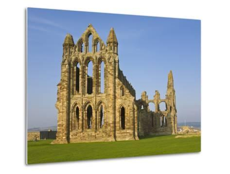 Ruins of Whitby Abbey in North Yorkshire-Paul Thompson-Metal Print