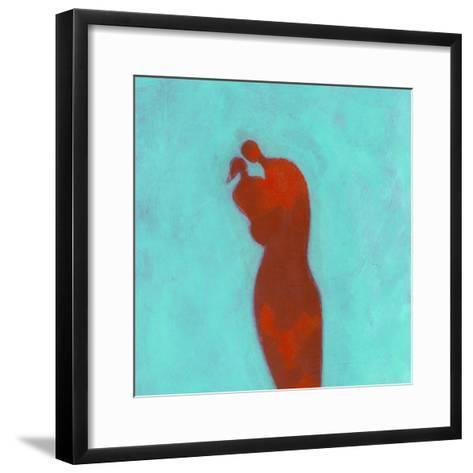 Couple Embracing-Marie Bertrand-Framed Art Print