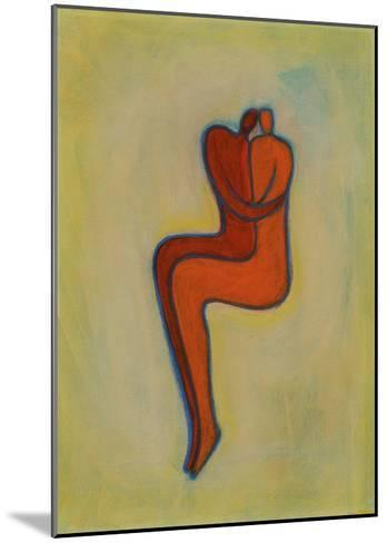 Couple Embracing-Marie Bertrand-Mounted Giclee Print