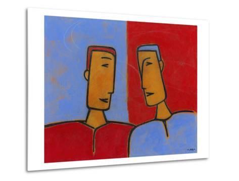 Men Conversing-Marie Bertrand-Metal Print