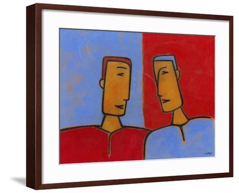 Men Conversing-Marie Bertrand-Framed Art Print