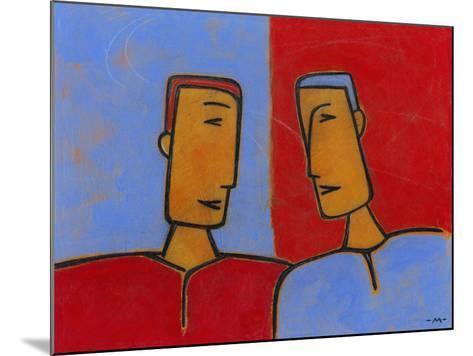 Men Conversing-Marie Bertrand-Mounted Giclee Print