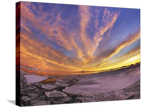 Drifting ice in Antarctica-Frank Krahmer-Stretched Canvas Print