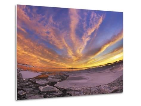 Drifting ice in Antarctica-Frank Krahmer-Metal Print
