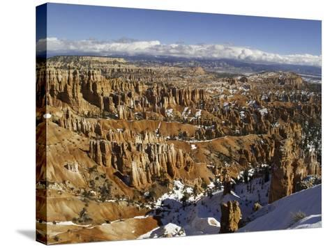 Snow at Sunset Point in Bryce Canyon National Park-Danny Lehman-Stretched Canvas Print