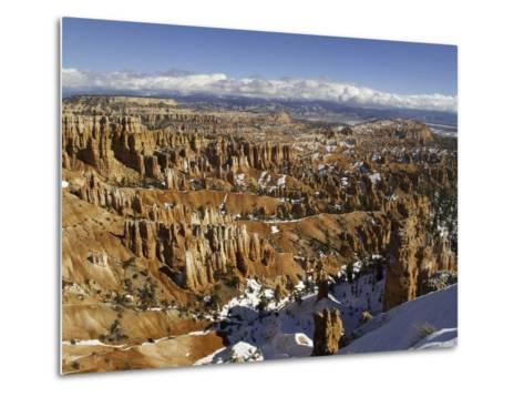 Snow at Sunset Point in Bryce Canyon National Park-Danny Lehman-Metal Print