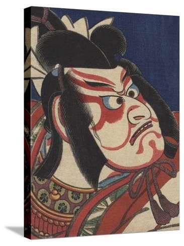 Detail of Two Kabuki Actors-Torii Kiyomitsu II and Toyokuni III-Stretched Canvas Print
