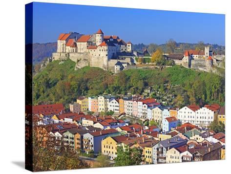 Village Burghausen, Germany-Walter Geiersperger-Stretched Canvas Print