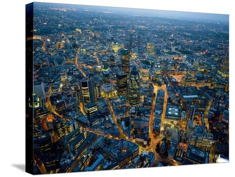 Aerial View of City of London-Jason Hawkes-Stretched Canvas Print