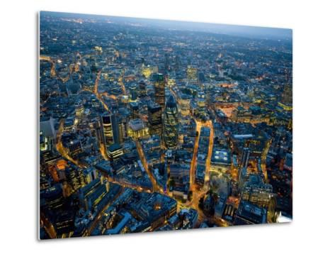 Aerial View of City of London-Jason Hawkes-Metal Print