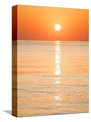 Sunlight Reflecting on Ocean at Sunset-Frank Lukasseck-Stretched Canvas Print