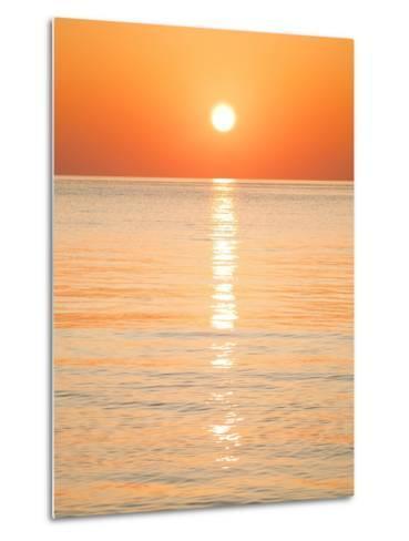 Sunlight Reflecting on Ocean at Sunset-Frank Lukasseck-Metal Print