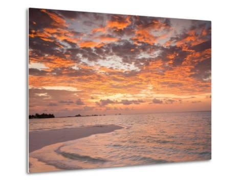 Sunrise over the Maldive Islands-Frank Lukasseck-Metal Print