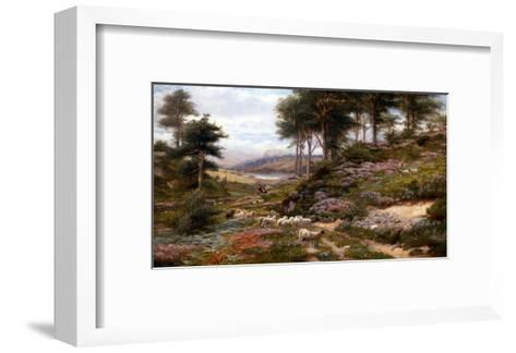 Through the Heather, Dunkeld, Scotland, United Kingdom-George Vicat Cole-Framed Art Print