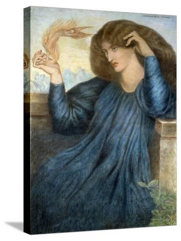 La Donna della Flamma-Dante Gabriel Rossetti-Stretched Canvas Print