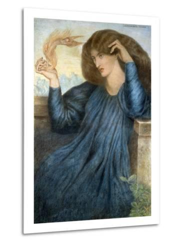 La Donna della Flamma-Dante Gabriel Rossetti-Metal Print