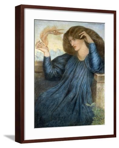 La Donna della Flamma-Dante Gabriel Rossetti-Framed Art Print