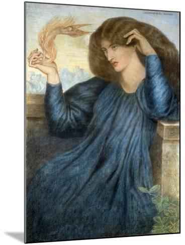La Donna della Flamma-Dante Gabriel Rossetti-Mounted Giclee Print