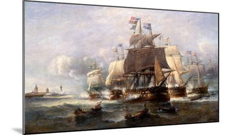 A Naval Engagement-Francois Musin-Mounted Giclee Print