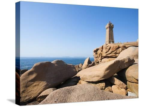 Ploumanach Lighthouse on the Cote de Granit Rose-Frank Lukasseck-Stretched Canvas Print