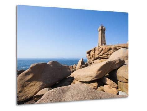 Ploumanach Lighthouse on the Cote de Granit Rose-Frank Lukasseck-Metal Print