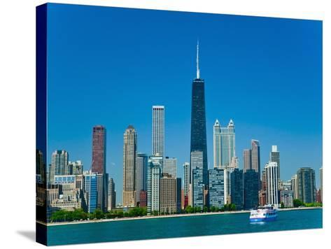 Chicago skyline-Bob Krist-Stretched Canvas Print