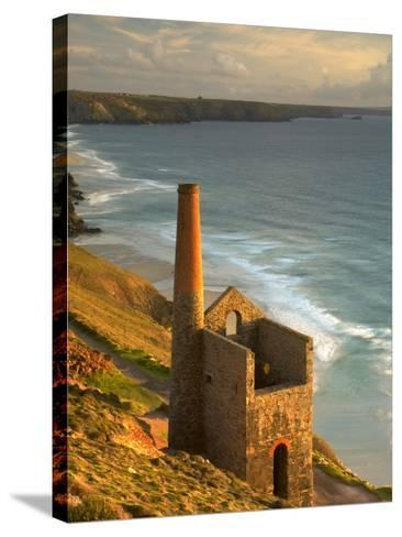 Smokestack in St. Agnes-Lee Pengelly-Stretched Canvas Print