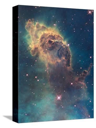 Star Birth in Carina Nebula from Hubble's Wfc3 Detector--Stretched Canvas Print