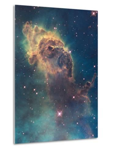 Star Birth in Carina Nebula from Hubble's Wfc3 Detector--Metal Print