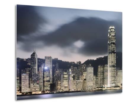 Hong Kong Skyline and financial district at dusk-Martin Puddy-Metal Print