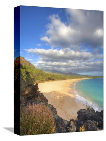 Oneloa Beach in Makena State Park on Maui-Ron Dahlquist-Stretched Canvas Print