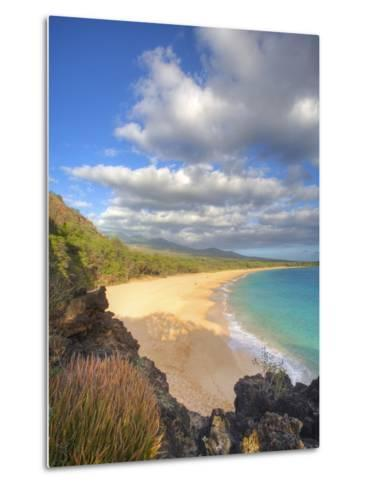 Oneloa Beach in Makena State Park on Maui-Ron Dahlquist-Metal Print