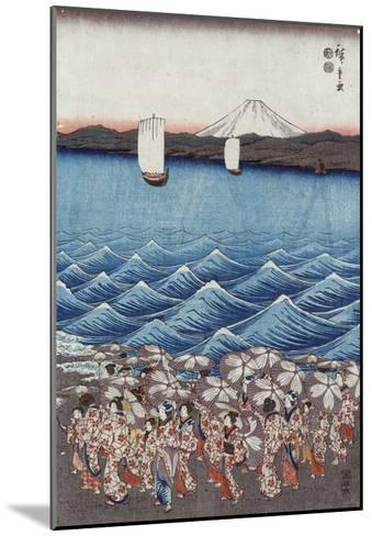 Opening Celebration of Benzaiten Shrine at Enoshima-Ando Hiroshige-Mounted Giclee Print