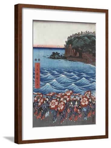 Opening Celebration of Benzaiten Shrine at Enoshima-Ando Hiroshige-Framed Art Print