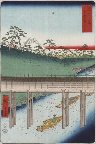 Ochanomizu in the Eastern Capital-Ando Hiroshige-Stretched Canvas Print